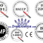 Iran Licorice Iso Factory Licorice Certificates